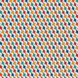 Wiederholter Diamanthintergrund Geometrisches nahtloses Muster mit Polygone Tessellation Rauten- und Rautenmotiv Lizenzfreies Stockfoto