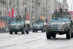 Wiederholung der Parade eines Sieges Lizenzfreies Stockfoto