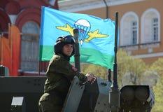 Wiederholung der Parade zu Ehren Victory Days in Moskau stockfotos