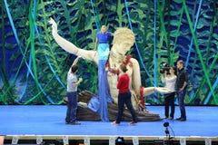 Wiederholung des Musicals die kleine Meerjungfrau lizenzfreies stockbild