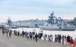 Wiederholung für die Parade der russischen Marine Lizenzfreies Stockfoto