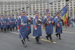 Wiederholung für rumänische Nationaltag-Parade lizenzfreies stockbild