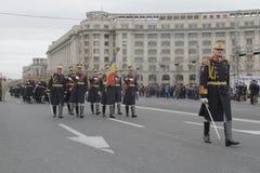 Wiederholung für rumänische Nationaltag-Parade lizenzfreie stockfotos