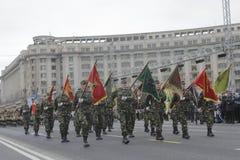 Wiederholung für rumänische Nationaltag-Parade lizenzfreies stockfoto