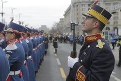 Wiederholung für rumänische Nationaltag-Parade stockfotos