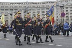 Wiederholung für rumänische Nationaltag-Parade Stockbild