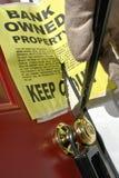 Wiederinbesitznahme eines Hauses in der gerichtlichen Verfallserklärung lizenzfreie stockfotos