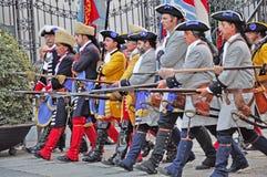 Wiederinkraftsetzung der Belagerung von Turin, September 1706. Stockbild