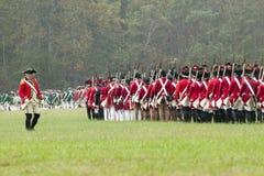 Wiederinkraftsetzung der Belagerung von Yorktown Lizenzfreies Stockfoto