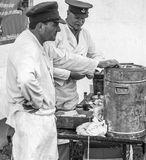 Wiederinkraftsetzung des Zweiten Weltkrieges Blyth, Northumberland, England 16 05 2013 Lizenzfreie Stockfotos