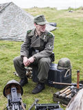 Wiederinkraftsetzung des Zweiten Weltkrieges Blyth, Northumberland, England 16 05 2013 Lizenzfreie Stockfotografie