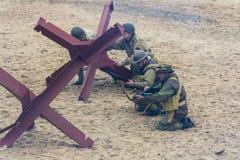 Wiederinkraftsetzung des Zweiten Weltkrieges Blyth, Northumberland, England 16 05 2013 Stockfotografie
