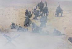 Wiederinkraftsetzung des Zweiten Weltkrieges Blyth, Northumberland, England 16 05 2013 Stockfotos