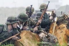 Wiederinkraftsetzung des Zweiten Weltkrieges Blyth, Northumberland, England 16 05 2013 Lizenzfreies Stockbild