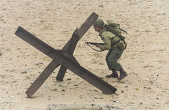 Wiederinkraftsetzung des Zweiten Weltkrieges Blyth, Northumberland, England 16 05 2013 Stockbilder