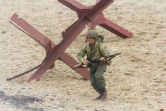 Wiederinkraftsetzung des Zweiten Weltkrieges Blyth, Northumberland, England 16 05 2013 Lizenzfreie Stockbilder