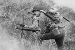 Wiederinkraftsetzung des Zweiten Weltkrieges Blyth, Northumberland, England 16 05 2013 Stockfoto
