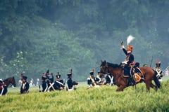 Wiederinkraftsetzungs-Kampf von Waterloo, Belgien 2009 Lizenzfreie Stockfotografie