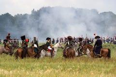 Wiederinkraftsetzungs-Kampf von Waterloo, Belgien 2009 stockbild