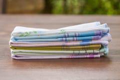 Wiederverwendbare 100-Prozent-Baumwolltaschentücher Lizenzfreies Stockbild