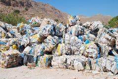 Wiederverwertung auf Halki, Griechenland Lizenzfreie Stockbilder
