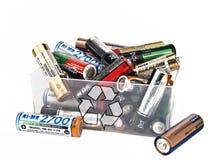 Wiederverwertung der Batterie Stockbild