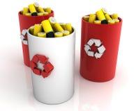 Wiederverwertung der Batterie Stockfotografie