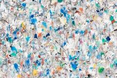 Wiederverwertung der Plastikhintergrund-Beschaffenheit stockbilder