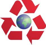 Wiederverwertung des eco Symbols Lizenzfreies Stockbild