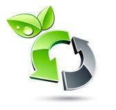Wiederverwertung des grünen Pfeiles Stockfoto