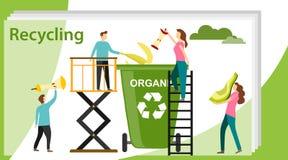 Wiederverwertung des Konzeptes Kann f?r Netzfahne, infographics, Heldbilder verwenden Wiederverwertung von Abfallelement-Abfallta lizenzfreie abbildung