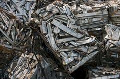 Wiederverwertung des Metalls Stockbild