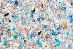 Wiederverwertung des Plastikkugel-Hintergrundes stockbilder