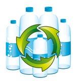 Wiederverwertung von Flaschen Wasser. Lizenzfreie Stockfotografie