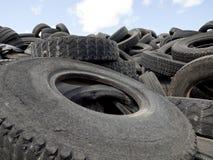 Wiederverwertung von Reifen Lizenzfreies Stockfoto
