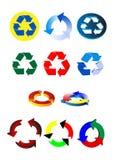 Wiederverwertung von Symbolen Lizenzfreie Stockbilder