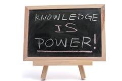 Wiedza jest władzą Fotografia Royalty Free