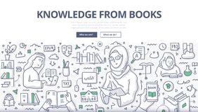 Wiedza od książki Doodle pojęcia ilustracji