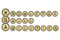 Wiedza, umiejętności i zdolność, obrazy royalty free