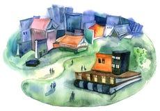 Wiedzy miasteczko ilustracji