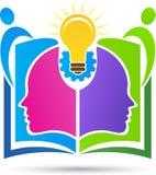 Wiedzy udzielenia centre logo royalty ilustracja