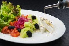 świeże grecka sałatka Zdjęcie Stock