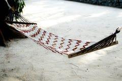 Wieg op strand van overzees Thailand royalty-vrije stock afbeeldingen