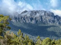 Wiegberg in Tasmanige Australië stock afbeelding
