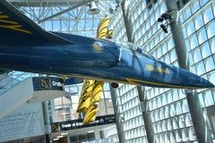 Wiege des Luftfahrt-Museums auf Long Island in New York, USA stockbilder