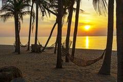 Wiege und Sonnenaufgang Lizenzfreies Stockfoto
