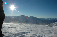 wiegele катания на лыжах микрофона heli стоковое фото rf