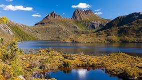 Wiegen-Berg Tasmanien stockfotos