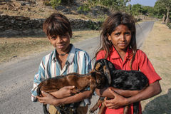 Wiejscy dzieciaków ind Fotografia Royalty Free