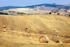 Wiejscy krajobrazy Tuscany obrazy stock